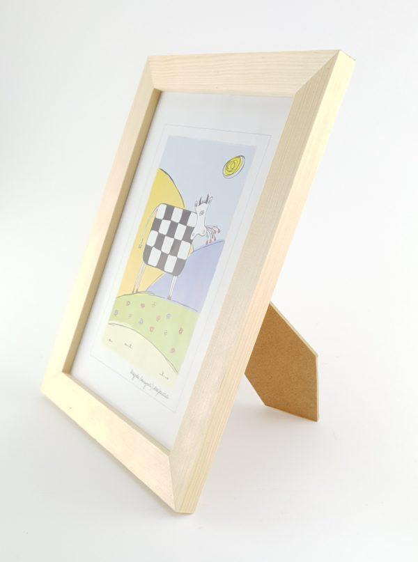drewniana sosnowa surowa ramka na zdjęcia